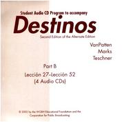Cover of: Destinos, Pt. 2 by VANPATTEN