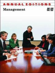 Cover of: Management 02/03 (Management, 2002-2003) by Fred H. Maidment