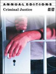 Cover of: Criminal Justice 02/03 (Annual Editions Criminal Justice) | Joseph L. Victor