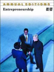 Cover of: Annual Editions Entrepreneurship 02/03 by Robert W. Price