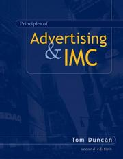 Cover of: Principles of Advertising and IMC | Tom Duncan