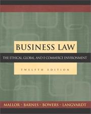 Cover of: Business Law | Jane P. Mallor