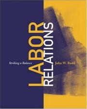 Cover of: Labor Relations by John W. Budd
