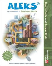 Cover of: ALEKS Users Guide by Aleks Corporation