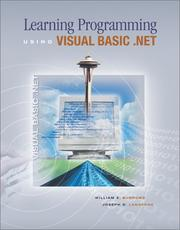 Cover of: Learning Programming Using Visual Basic .Net by Williams E. Burrows