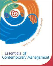 Cover of: Essentials of Contemporary Management | JONES