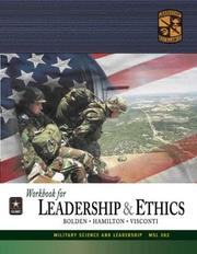 Cover of: MSL 302 Leadership and Ethics Workbook | ROTC Cadet Command