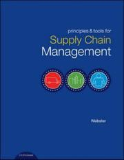 Cover of: Principles and Tools for Supply Chain Management with Student CD-ROM by Scott Webster