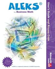 Cover of: ALEKS for Business Math User Guide and Access Code Mandatory Package-Standalone by ALEKS Corporation