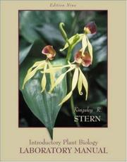 Cover of: Laboratory Manual to accompany Introductory Plant Biology by Kingsley R. Stern