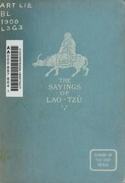 The Sayings of Lao Tzü
