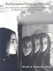 Cover of: CPS5 Autobiographical Writing and Performance (University of Mary Hardin-Baylor) by Diane Howard