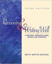 Cover of: Reasoning and Writing Well | Betty Mattix Dietsch