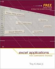 Cover of: Excel Applications for Corporate Finance | Troy Adair