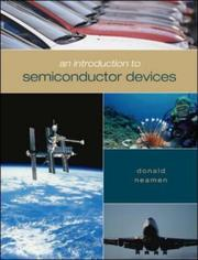 Cover of: An Introduction to Semiconductor Devices | Donald Neamen