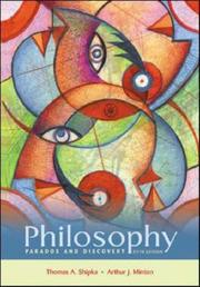 Cover of: Philosophy: Paradox and Discovery with PowerWeb by Thomas A Shipka