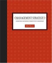 Cover of: Management Strategy | Alfred A Marcus