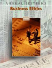 Cover of: Business Ethics 05/06 by John E. Richardson