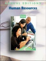 Cover of: Annual Editions: Human Resources 05/06 (Annual Editions: Human Resources) | Fred H Maidment