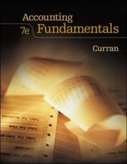 Cover of: Accounting Fundamentals with Student CD ROM by Jr., Michael G. Curran