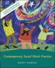 Cover of: Contemporary Social Work Practice w/ Ethics Primer, Case Study CD, and PowerWeb | Martha P. Dewees