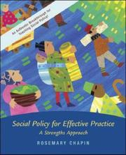 Cover of: Social Policy with Case Study CD and Ethics Primer | Rosemary K. Chapin