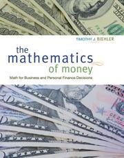 Cover of: The Mathematics of Money | Timothy Biehler