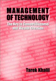 Cover of: Management of Technology | Tarek M Khalil