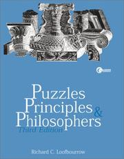 Cover of: Puzzles,Principles  &  Philosophers | Richard C. Loofbourrow