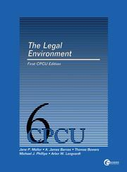 Cover of: The Legal environment by Jane P Mallor