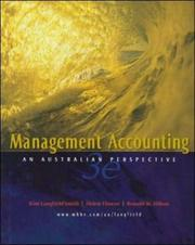 Cover of: Management Accounting | Langfield-Smith