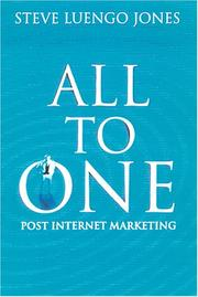 Cover of: 'All-to-one' | Steve Luengo-Jones