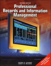 Cover of: Professional Records And Information Management Student Edition with CD-ROM by Jeffrey R Stewart