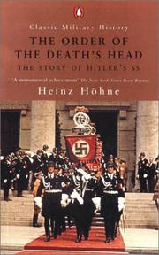 Cover of: The Order of the Death's Head | Heinz Zollin Höhne