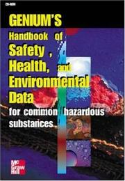 Cover of: Genium's Handbook of Health, Safety and Environmental Data | Genium