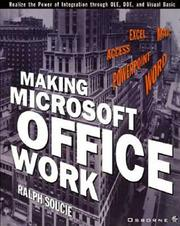 Cover of: Making Microsoft office work by Ralph Soucie