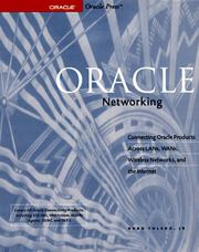 Cover of: Oracle networking by Hugo Toledo