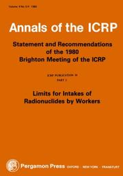 Cover of: ICRP Publication 30 | ICRP