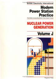 Cover of: Nuclear Power Generation, Volume Volume J | P.B. Myerscough