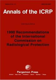 Cover of: ICRP Publication 60 | ICRP