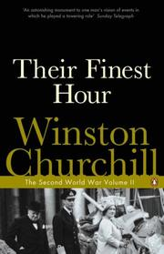 Cover of: Their Finest Hour (Second World War) | Winston S. Churchill