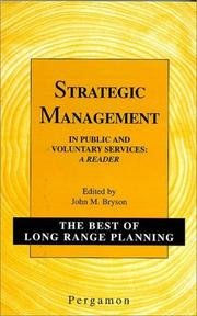 Cover of: Strategic Management in Public and Voluntary Services | J.M. Bryson