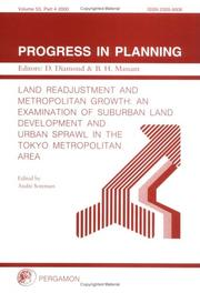 Cover of: Land Readjustment and Metropolitan Growth | A. Sorensen