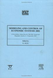 Cover of: Modeling and Control of Economic Systems 2001 | R. Neck