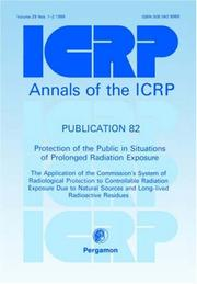 Cover of: ICRP Publication 82 by ICRP