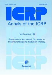 Cover of: ICRP Publication 86 | ICRP