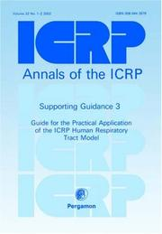 Cover of: ICRP Supporting Guidance 3 | ICRP