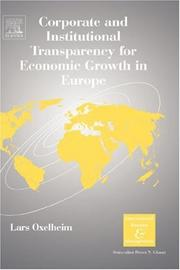 Cover of: Corporate and Institutional Transparency for Economic Growth in Europe, Volume 19 (International Business and Management) | Lars Oxelheim
