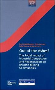Cover of: Out of the Ashes? | D. Waddington