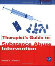 Cover of: Therapists' guide to substance abuse intervention | Sharon L. Johnson